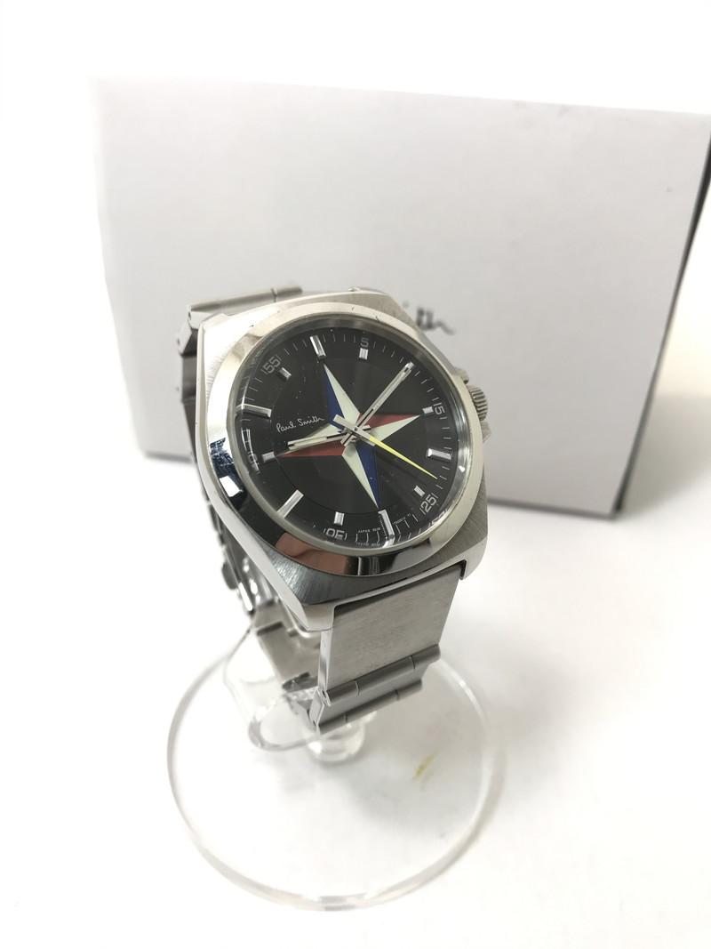 【中古】【メンズ】Paul Smith ポール スミス FESTIVAL OF BRITAIN コレクション 腕時計 カラー:シルバー 万代Net店