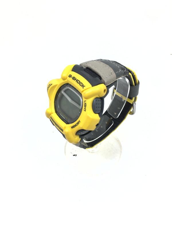 万代Net店 ジーショック クォーツ 【中古】【メンズ】G-SHOCK 型番:DW-9100YJ-9T カラー:イエロー 1998年製 ライズマン RISEMAN 腕時計