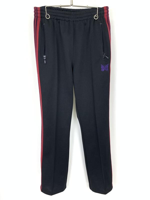 【中古】【メンズ】Needles ニードルス Narrow Truck Pants ナロー トラックパンツ サイズ:XS カラー:ブラック×レッド 万代Net店