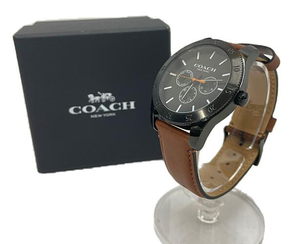 中古 メンズ 限定タイムセール COACH CA.133.2.95.1750 コーチ 腕時計 サイズ:ケース径 腕回り 万代Net店 カラー:BLACK BROWN 最大約19.5cm 約43mm 買取