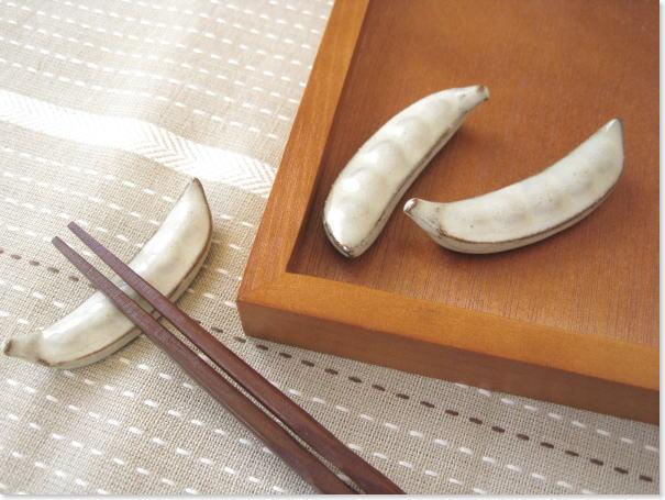 集めたくなる箸置き 野菜モチーフ ネコポス OK はし置き えんどう豆 箸置き はしおき トレンド カトラリーレスト ホワイト カフェ風 陶磁器 陶器 おしゃれ かわいい 新色追加 グリーン