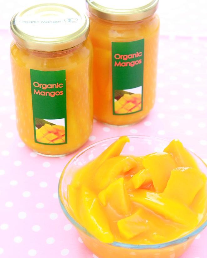 <送料無料12本セット>【有機JAS・無添加・砂糖不使用】オーガニックマンゴーコンポートとろ~り濃厚!マンゴーの果汁漬け 350g×12本(瓶)