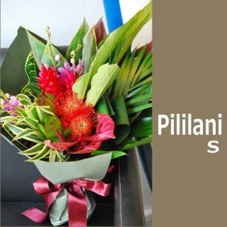 国内正規総代理店アイテム トロピカルな南国ムードたっぷりのハワイアン花束Pililani おトク 南国系の花たちが楽しそうに話しかけそうなブーケです ハワイアン花束 hawaiian S bouquet Pililani