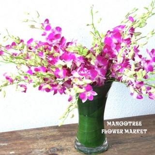 デンファレラベンダーの花束