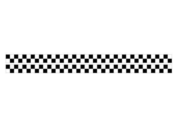 市松模様ステッカー 白 黒 チェッカーフラッグ チェック柄 ライン デカール デコレーション 便利 ドレスアップ 長期使用 5%OFF 新作製品 世界最高品質人気 1m 2本セット 屋外対応
