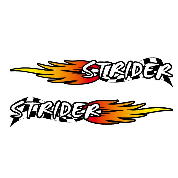 ストライダー 激安格安割引情報満載 大放出セール STRIDER フレームに カスタム ステッカー 競技用 左右セット スポーツバイク ファイヤー