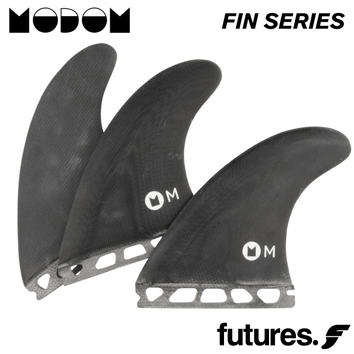 ショートボード用フィン MODOM SURF モドムサーフ FIN SERIES BLACKNESS - FIBER GLASS ファイバーグラスフィン 3フィン トライフィン スラスター サーフィン 【あす楽対応】