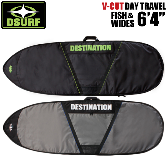 """サーフボードケース DESTINATION デスティネーション ブイカット デイバッグ デイトラベル フィッシュ 6'4"""" V-CUT DAY TRAVEL FISH&WIDES 6'4"""