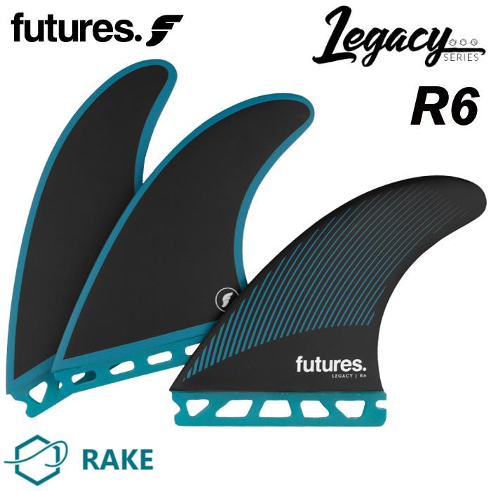 ショートボード用フィン FUTURES. FIN フューチャーフィン RTM HEX - Legacy - R6 (MEDIUM) レガシーシリーズ Mサイズ フューチャーズフィン トライフィン 3フィン サーフィン 【日本正規品】【あす楽対応】
