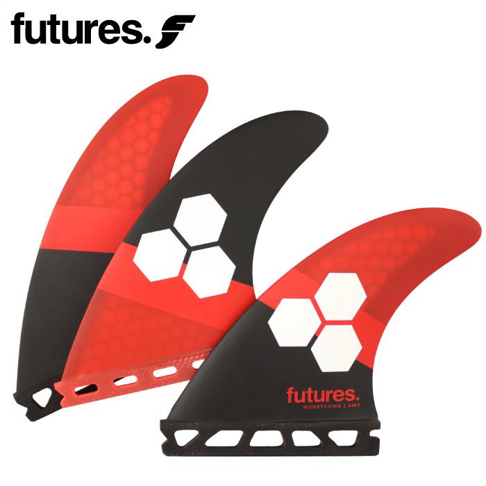 日本正規品 ショートボード用フィン FUTURES. FIN フューチャーフィン RTM HEX 2.0 FAM3 RED/BLACK レッド/ブラック 超軽量ハニカムコアマット トライフィン 3フィン サーフィン 【あす楽対応】