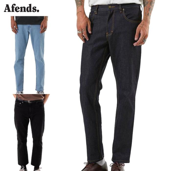 【日本正規代理店品】 AFENDS アフェンズ メンズ デニムパンツ M181450-191 Society ジーンズ ジーパン ボトムス ロングパンツ 長ズボン 男性用 【あす楽対応】