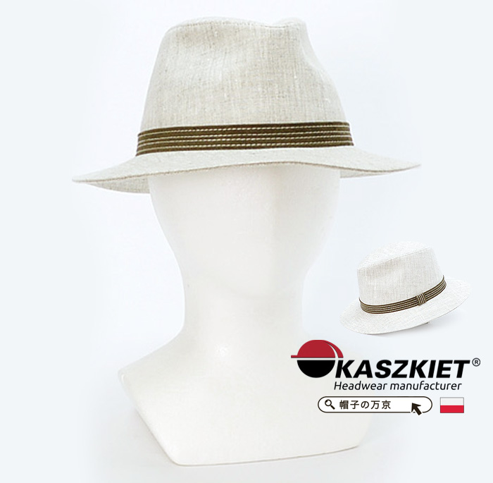 送料無料 メンズ 帽子【KASZKIET カシュケット】こだわりのポーランド製 つば広 マニッシュハット/ハット メンズ 帽子 マニッシュハット 通販 紳士帽子 70代 ファッション 春 夏 大きいサイズ 父の日 ギフト 誕生日