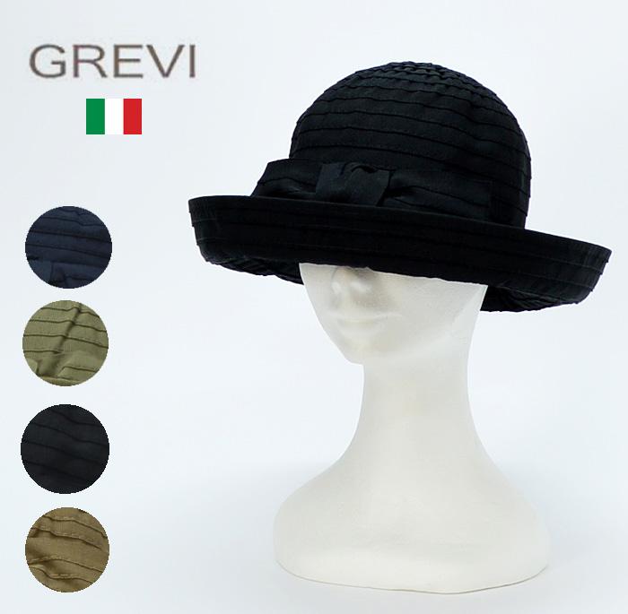 キャッシュレス 帽子 5%還元 送料無料 帽子 ハット レディース キャッシュレス 帽子 5%還元 送料無料【イタリア名門 GREVI グレヴィ】リボンブレードハット/帽子 ハット レディース grevi 帽子 グレヴィ 帽子