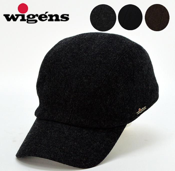 送料無料【wigens】ヴィゲーンズ ウール キャップ CAP メンズ 帽子 大きいサイズ グレー XL 秋 冬 かっこいい キャップ 帽子