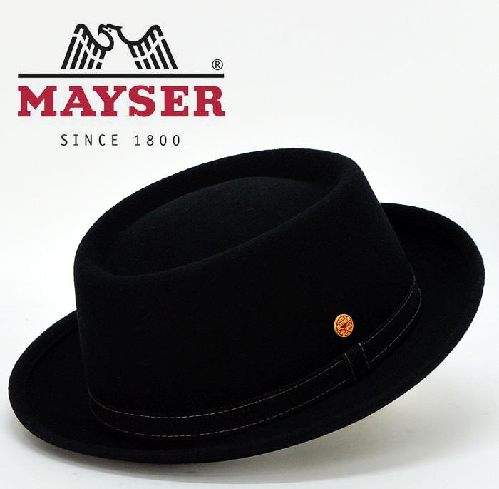 送料無料【MAYSER】マイサー 毛100% ポークパイハット 中折れハット メンズ 帽子 秋 冬