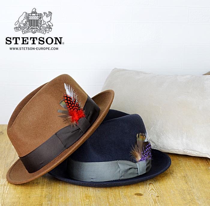 中折れハット 芸能人御用達 アメリカ製 送料無料 STETSON ステットソン帽子 ウール100%羽付き 中折れ帽子 中折れハット メンズ おしゃれ 帽子 秋 冬 紳士 通販 大きいサイズ