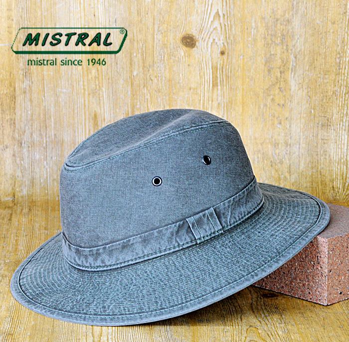 ミストラル 帽子 送料無料【MISTRAL ミストラル】フランス製 綿100% つば広 折り畳み可能 紫外線 UVカット防止加工 コットン マニッシュハット メンズ 帽子 ファッション 春 夏 大きいサイズ