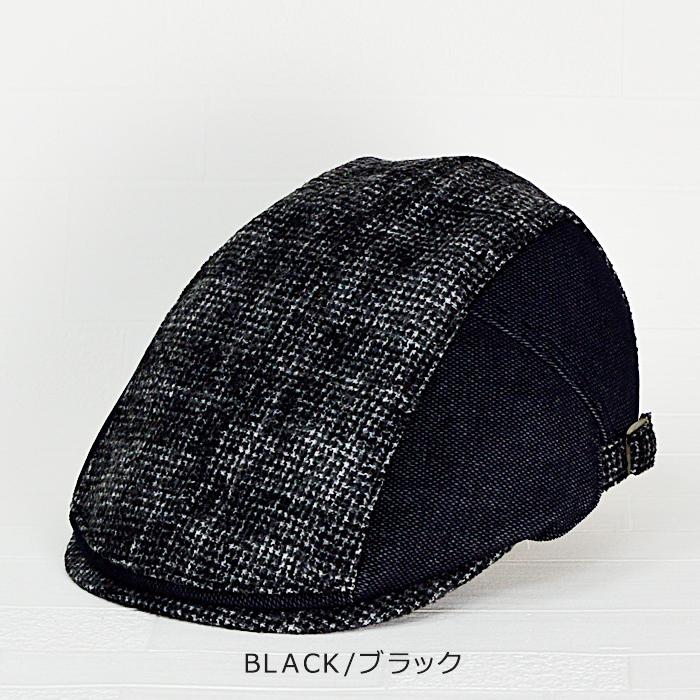ダックス 帽子 送料無料【DAKS】ダックス ウール混紡 ハンチング サイズ調節可能 DAKS 帽子 ハンチング メンズ 大きいサイズ 秋 冬 日本製 帽子