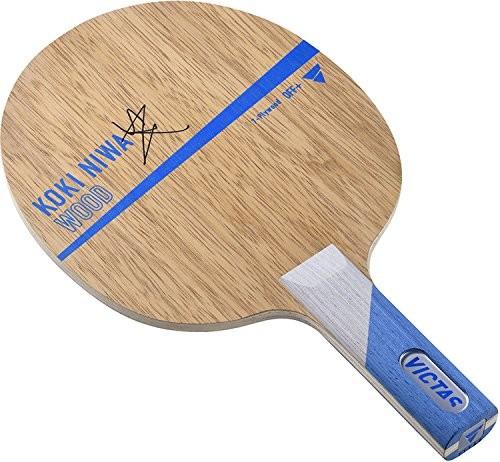 ヴィクタス(VICTAS) 卓球 ラケット Koki Niwa Wood シェークハンド 攻撃用 7枚合板 丹羽孝選手使用モデル ストレート 027205