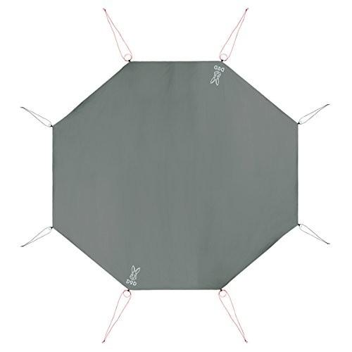 DOD(ディーオーディー) ワンポールテント用グランドシート(8人用)385cm×350cm GS8-563-GY