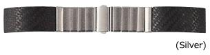 時計 ベルト 時計ベルト カーボン/ステンレススチール CASSIS カシス CARBON カーボン V11002H7 22mm 時計 バンド 時計バンド 替えベルト 替えバンド ベルト 交換