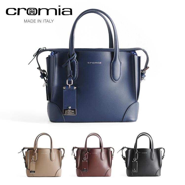 [cromia] クロミア 牛革 バッグ イタリア製 2WAY 斜め掛け スパンコール レディース トープ/ボルドー/ネイビー/ブラック