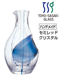 【包装不可】 東洋佐々木ガラス 和がらす 冷酒カラフェ(ブルー) 12個セット 品番:61507 日本製 ケース販売 徳利