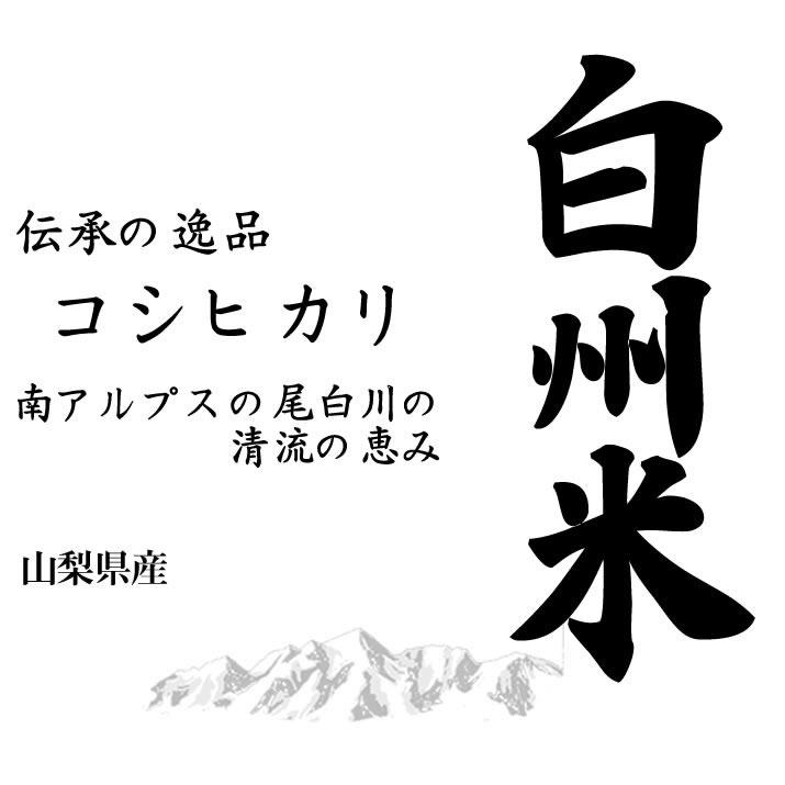 【事業所配送(個人宅不可)】日本名水100選 令和元年産山梨県産 白州米コシヒカリ 白米10kgx2袋 玄米/無洗米加工/米粉加工/保存包装 選択可