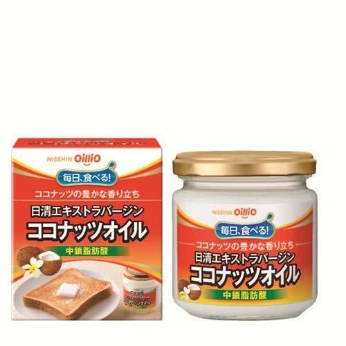 【送料無料】日清 エクストラバージンココナッツオイル(中鎖脂肪酸) 130gx12本 (1ケース)安心の国内充填