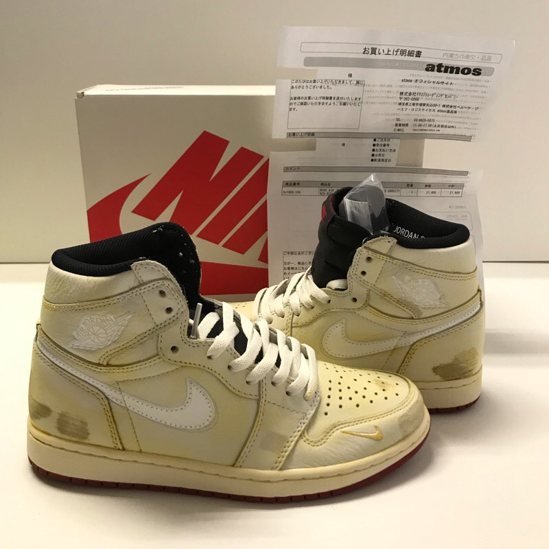 newest 4d889 c892b There is NIKE JORDAN 1 RETRO HIGH NIGEL SYLVESTER Nike air Jordan one  SAIL/WHITE-VARSITY RED BV1803-106 25.5cm country black tag