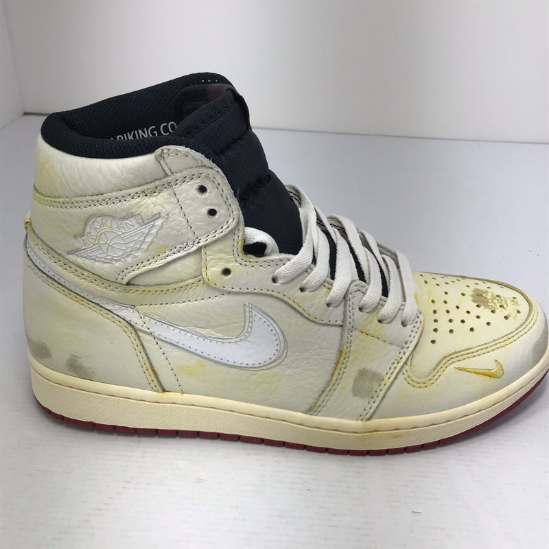 new photos adf5c 92943 There is NIKE JORDAN 1 RETRO HIGH NIGEL SYLVESTER Nike air Jordan one  SAIL/WHITE-VARSITY RED BV1803-106 27.5cm country black tag