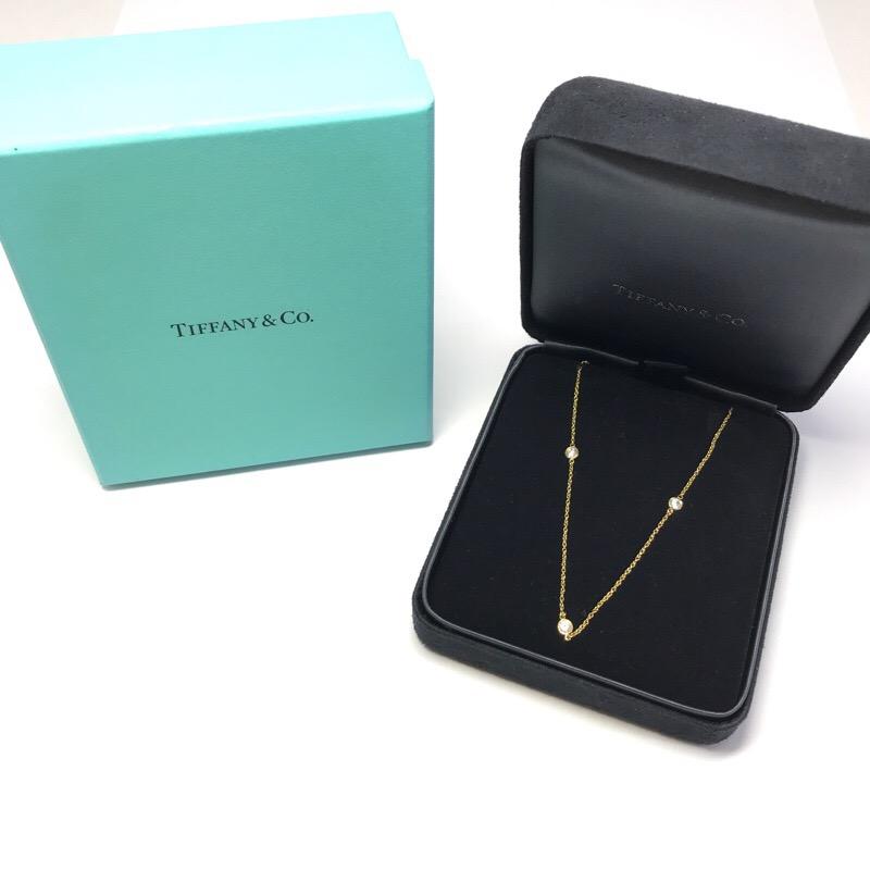 TIFFANY&CO ティファニー バイザヤード ダイヤ 3P  ネックレス AU750 金 K18【中古】