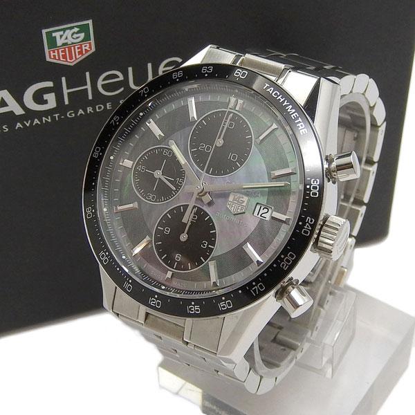 TAG HEUER タグホイヤー カレラ オートマチック 腕時計 黒シェル文字盤 CV201K BA0794 【中古】