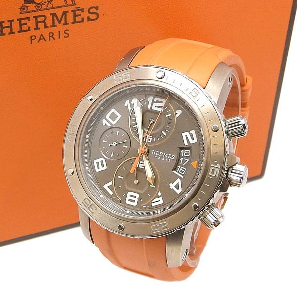 20181107 HERMES エルメス クリッパー 日本メーカー新品 ダイバー 腕時計 奉呈 CP2.941 クロノグラフ 中古