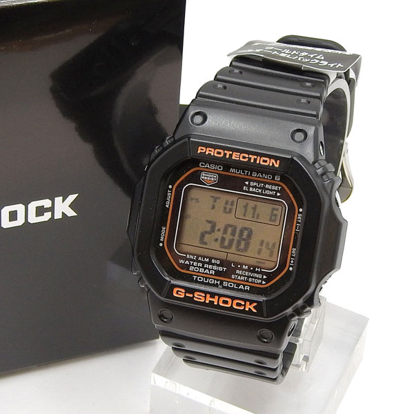 未使用 CASIO カシオ G-SHOCK タフソーラー電波時計 GW-M5610R-1JF 【中古】