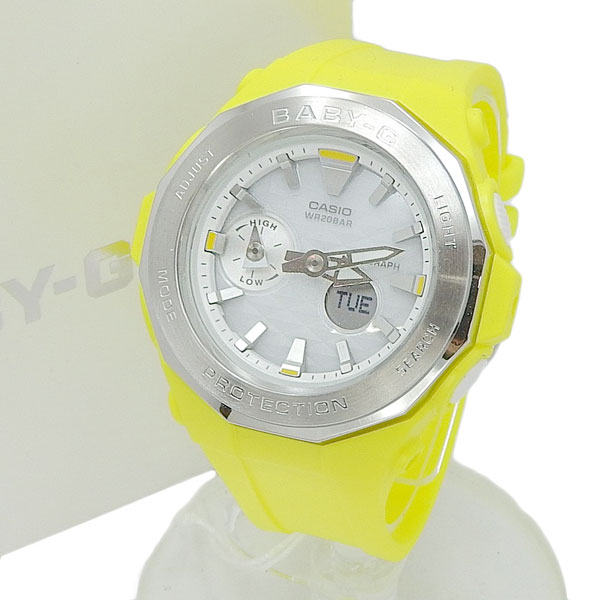未使用 CASIO カシオ Baby-G 腕時計 G-LIDE ビーチ グランピング シリーズ BGA-225 イエロー 【中古】