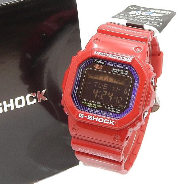 未使用 CASIO カシオ G-SHOCK タフソーラー電波時計 G-LIDE Gライド GWX-5600C-4JF 赤 【中古】