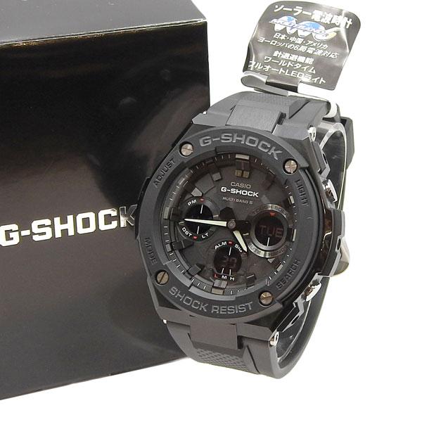 未使用 CASIO カシオ G-SHOCK タフソーラー電波時計 G-STEEL GST-W100G-1BJF 黒 【中古】