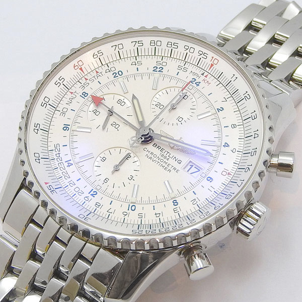 outlet store d2355 3edff BREITLING blight ring navigator timer world automatic watch A242G71NP