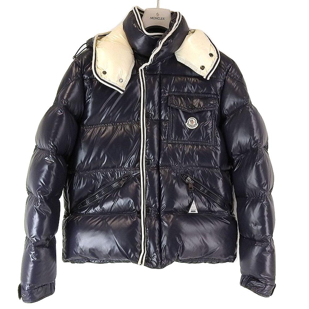 MONCLER モンクレール ブランソン ダウンジャケット ダウンコート アウター メンズ サイズ 6 ネイビー 紺 【中古】