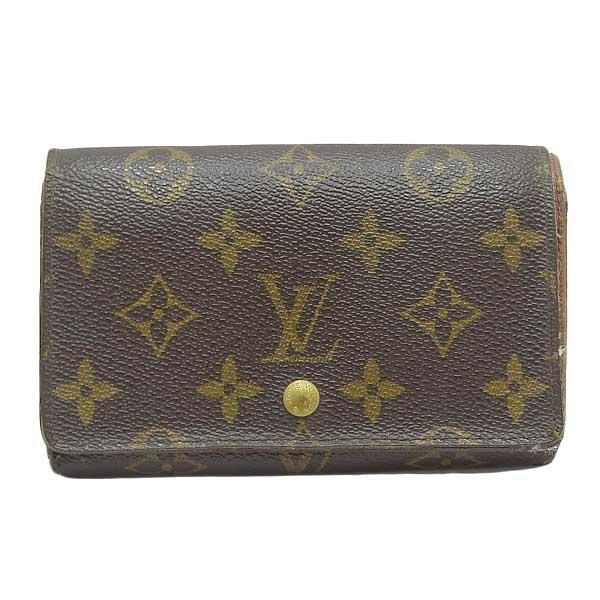 Louis Vuitton ルイ ヴィトン モノグラム ポルト モネ・ビエ トレゾール コンパクト財布 M61730 【中古】