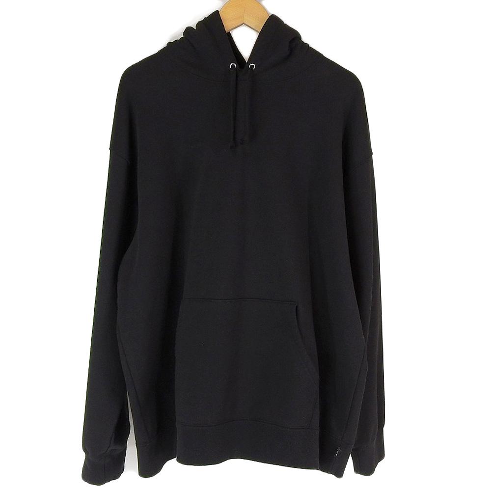 Supreme シュプリーム Rhinestone Script Hooded Sweatshirt ラインストーン ブラック 黒 XL 【中古】
