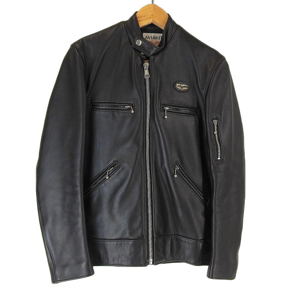 Lewis Leathers ルイスレザー HYSTERIC GRAMMAR レザー ジャケット ブラック 黒 S 【中古】