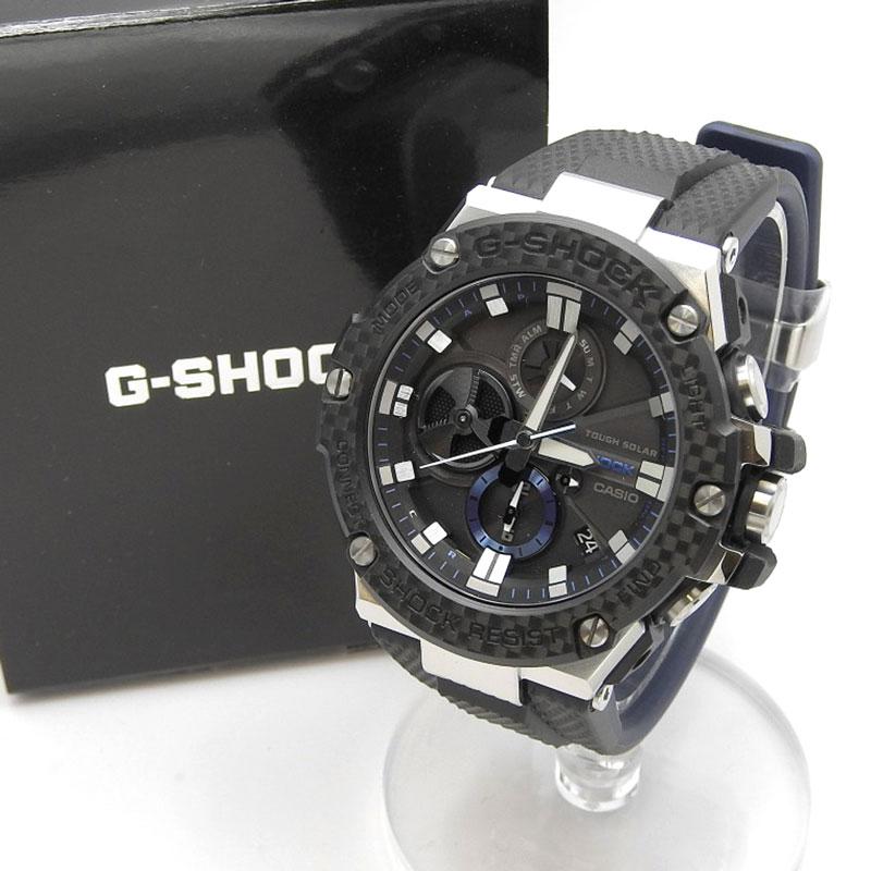 20210325 美品 Casio カシオ G-SHOCK お見舞い 送料無料 メンズ タフソーラー クォーツ GST-B100XA 電波 中古 Bluetooth 腕時計