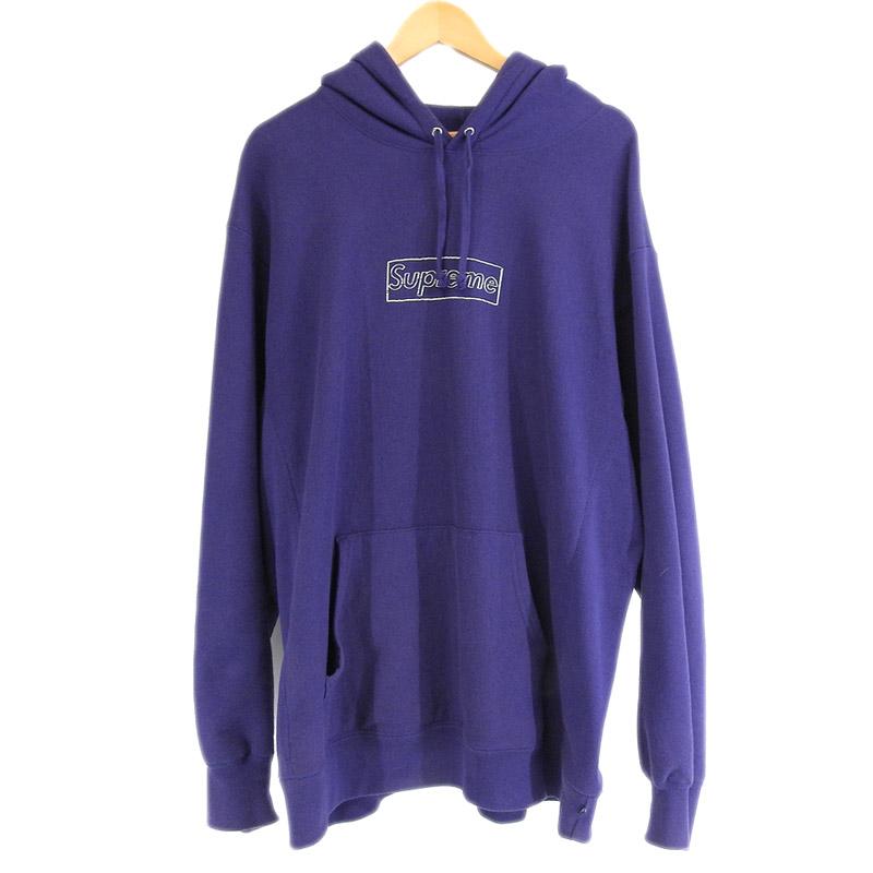 20210623 Supreme 日本 シュプリーム KAWS 開店記念セール Chalk Logo Hooded パーカー スエット XLサイズ shirt 中古 Sweat