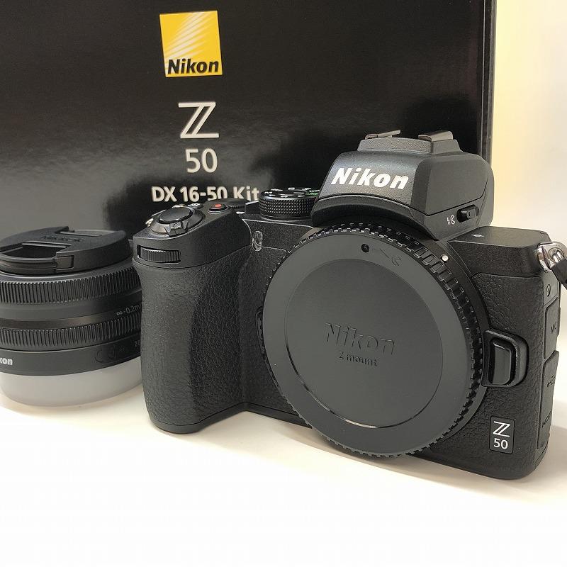 美品 Nikon/ニコン ミラーレス一眼カメラ Z50 レンズキット NIKKOR Z DX 16-50mm f/3.5-6.3 VR付属 Z50LK16-50 ブラック