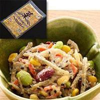 本物◆ 冷凍 高い素材 便利な豆と根菜の胡麻だれサラダ 500G 惣菜 マルハニチロ