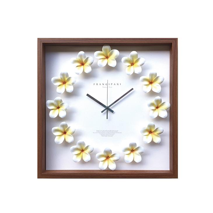Plumeria clock [Yellow-42.5cm] プルメリアクロック 掛け時計 CPC52450 42.5×42.5×5.5cm 造花 ギフトインテリア Plumeria clock [Yellow-42.5cm] プルメリアクロック イエロー 42.5×42.5cm 掛け時計 CPC52450 ハワイデザインクロック 造花 おしゃれ 可愛いギフトインテリア 取寄品 25993