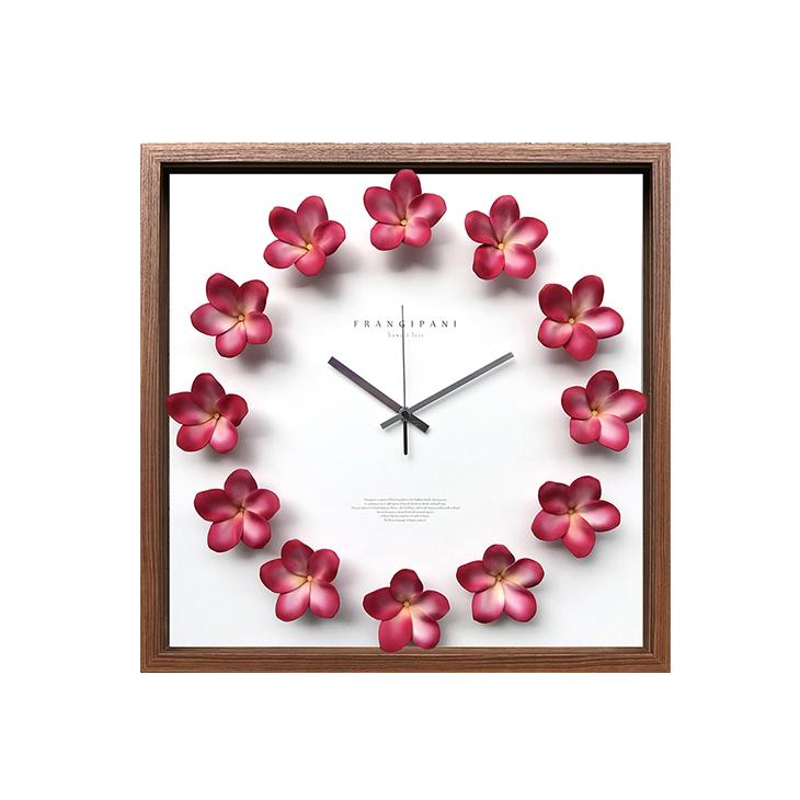 Plumeria clock [Fuchsia-42.5cm] プルメリアクロック 掛け時計 CPC-52641 42.5×42.5×5.5cm 造花 ギフトインテリア Plumeria clock [Fuchsia-42.5cm] プルメリアクロック フクシアW425 42.5×42.5cm 掛け時計 CPC-52641 赤ピンク緑 造花 おしゃれ 可愛いギフトインテリア 取寄品 33517