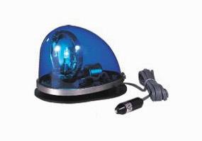 【パトライト:青色回転灯】車のルーフに傷をつけないゴムマグネット着脱式の流線型回転灯地域防犯パトロールを青色発光用品で支援!【smtb-td】